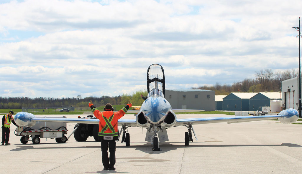 Even sitting on the ramp, the jet warbirds inspire a sense of wonder in any aviation enthusiast. John Drummond Photo