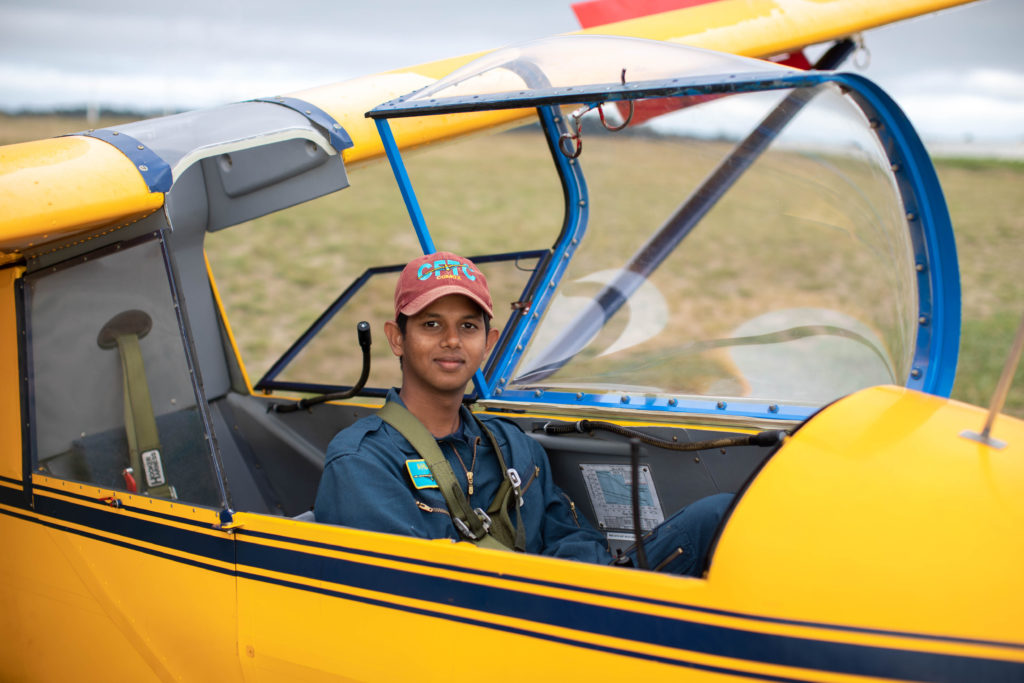 Ahuja is close to getting his glider pilot license, but he already has his eyes set on what's next - the Power Pilot Scholarship, the aircraft maintenance engineering program at the BCIT Aerospace, and the aerospace engineering program at Carlton University. CAF Photo