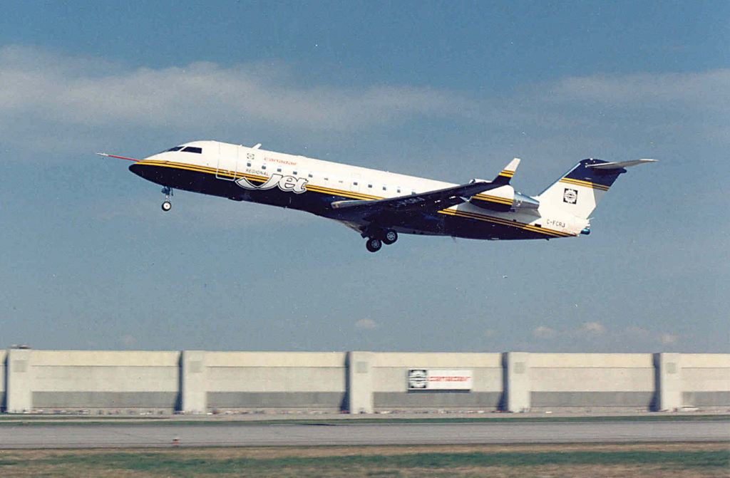 Canadair Regional Jet (CRJ) maiden flight, 1991. Bombardier Photo