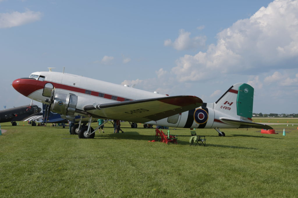 Mikey McBryan brought his Douglas DC-3 of Plane Savers fame to Oshkosh, where it was revealed there would be a second season of the hit web series. Kenneth I Swartz Photo