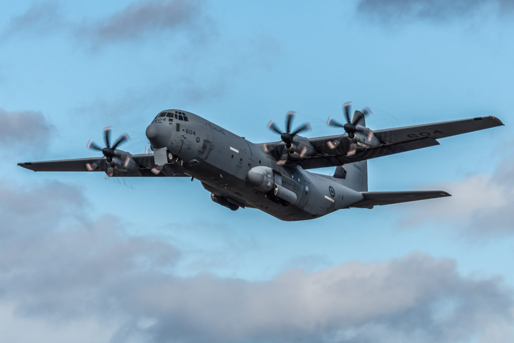 The tactical airlift detachment will consist of one CC-130J Hercules aircraft, operated and supported by up to 25 Canadian Armed Forces (CAF) members. Derek Heyes Photo