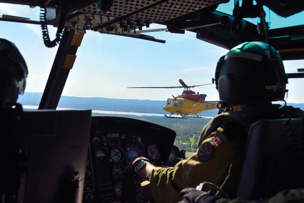 Goose Bay is home to 444 Combat Support Sqn, which operates three CH-146 Griffons that provide rapid response to local emergencies as well as general utility support to the Wing. MCpl Krista Blizzard Photo