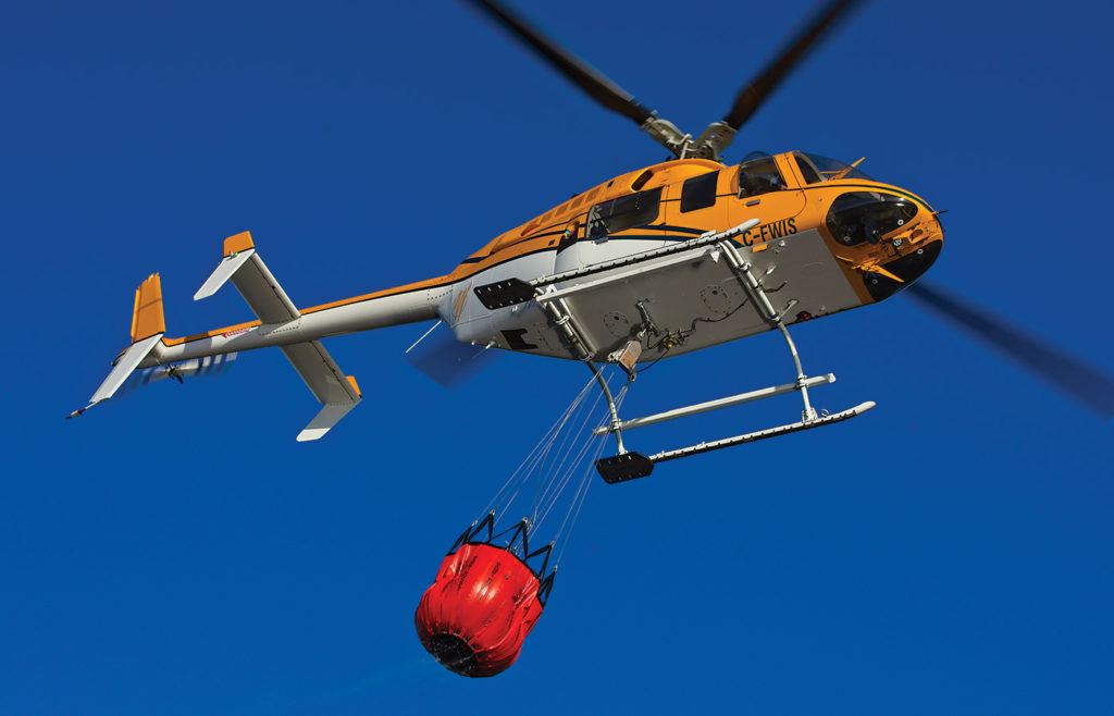 Invented and made in Canada, thousands of Bambi Buckets are used to fight forest fires around the world. Mike Reyno Photo