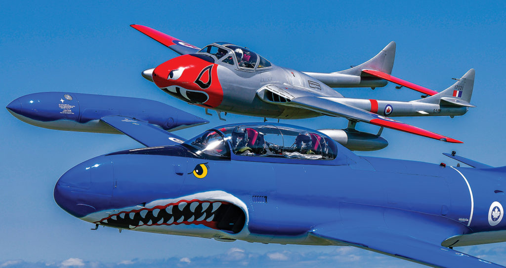 Along with paid passenger flights, enthusiasts might also see the Warbirds at a number of airshows. The team averages six appearances a year. Mike Reyno Photo