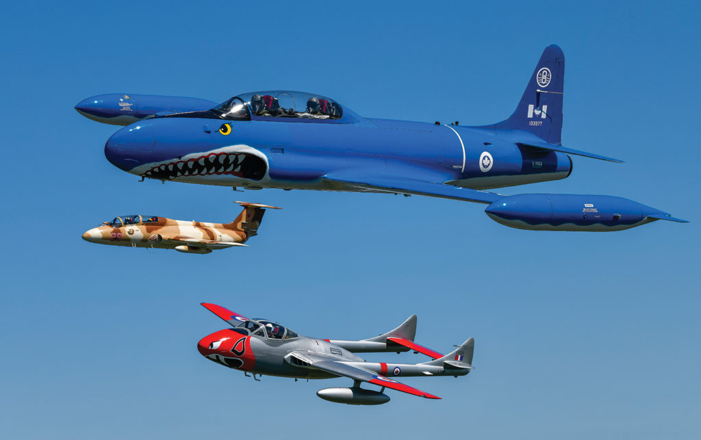 In 2014, the owners of each aircraft wanted to ensure the vintage jets would continue to fly, leading to the formation of the Waterloo Warbirds. Mike Reyno Photo