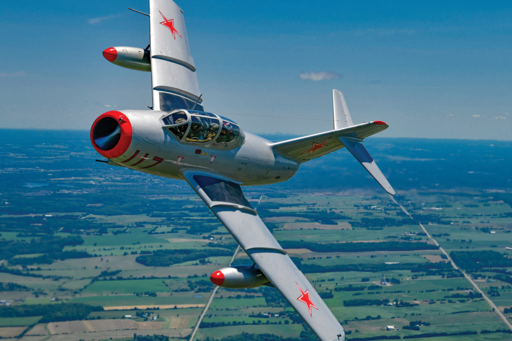 The Warbirds' MiG-15 is the only operational aircraft of its type in Canada. Mike Reyno Photo