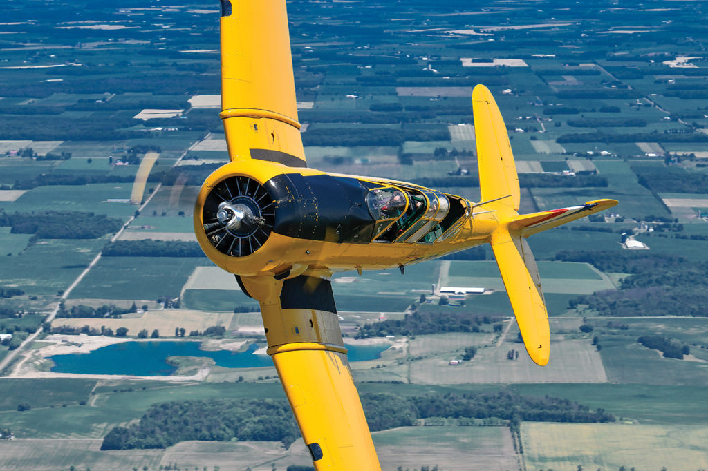 Along with the jet aircraft, the Warbirds maintain and operate a Harvard Mk. II which assists the team in pilot training. Mike Reyno Photo