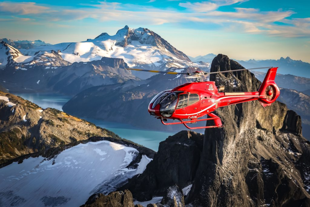BH is offsetting its carbon footprint through the sequestration of greenhouse gases by preserving forests, encouraging greener travel for commuters, and incorporating energy savings and lower emissions in new building design. Blackcomb Helicopters Photo