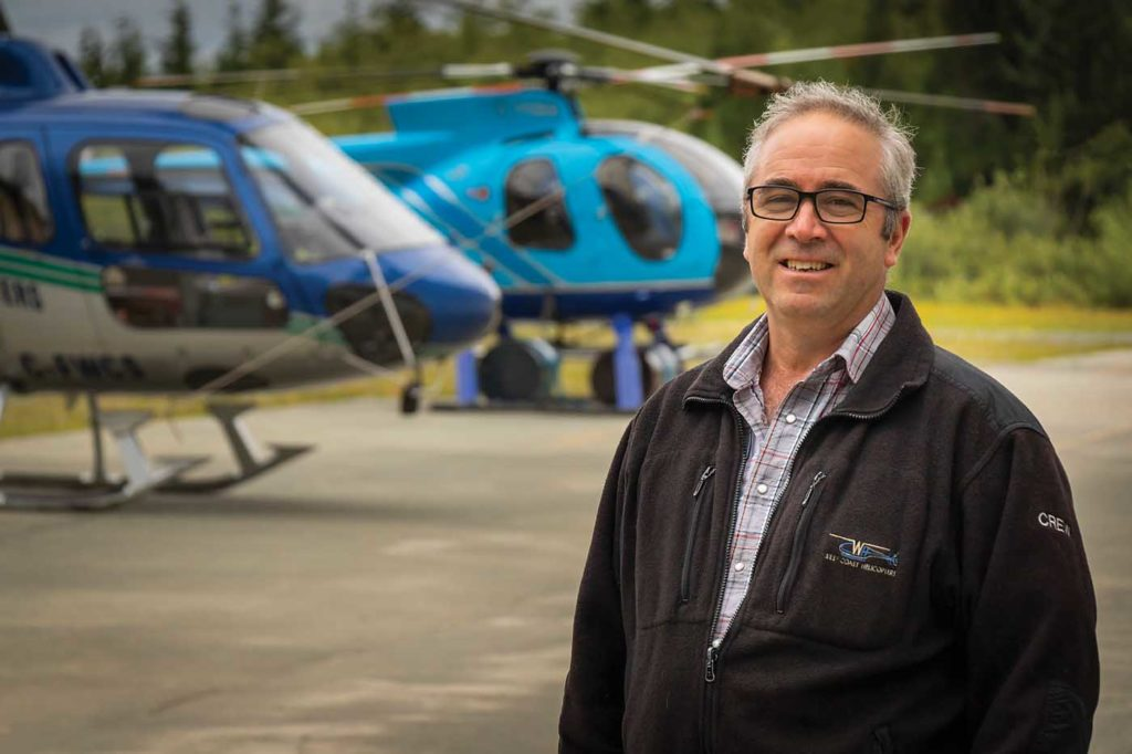 Terry Eissfeldt was one of three founding partners at West Coast Helicopters, and today serves as the company's CEO and director of maintenance. Heath Moffatt Photo