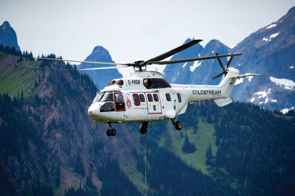 Coldstream Helicopters is one of a number of utility operators who have provided a new home for Super Pumas. Coldstream Photo