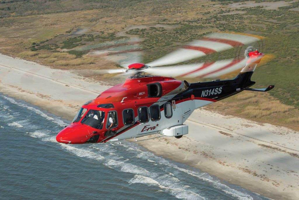 The newer fleet of super medium aircraft, including the Leonardo AW189 (pictured), Airbus H175 and Bell 525 may struggle to make an impact on the market, according to HeliValue$. Dan Megna Photo