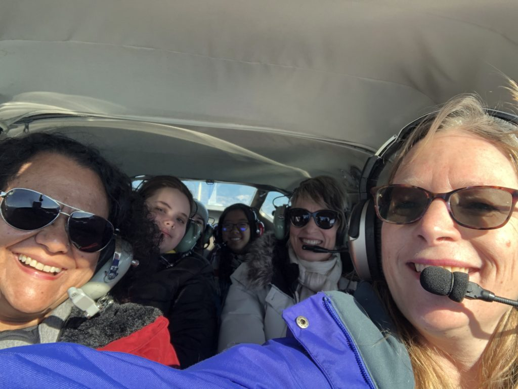 To become eligible to win this scholarship, women and girls must go on a first small aircraft flight during Women Of Aviation Worldwide Week (March 2-8, 2020). Institute for Women of Aviation Worldwide Photo