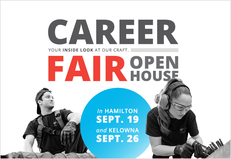The open-house events will give jobseekers an inside look at KF's skilled trades and entry-level positions. KF Aerospace Image