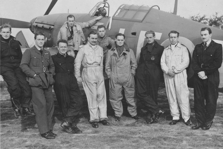 """The famed No. 242 """"Canadian"""" Squadron, pictured, was a Royal Air Force squadron that – at least initially – included a large number of Canadians. RCAF Photo"""