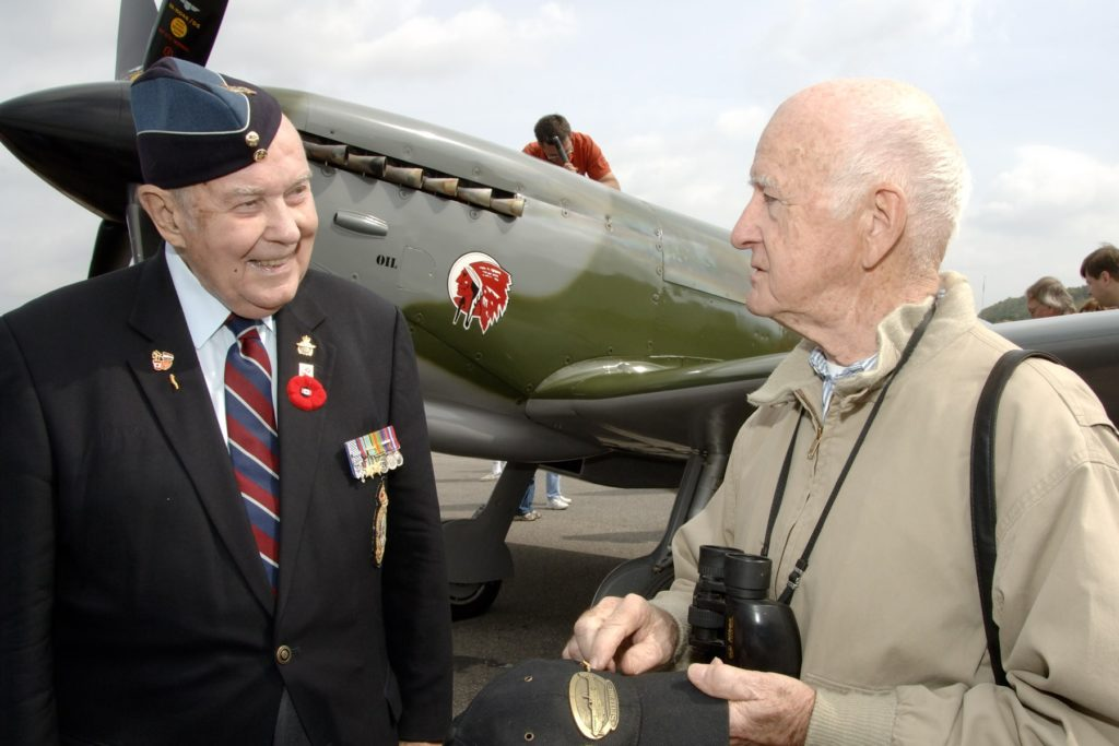 Today, with Second World War veterans becoming fewer, along with the many operations in which the Air Force has participated since the Second World War, it is only natural that the Battle of Britain ceremony has become a venue at which we celebrate the contributions of all our veterans. RCAF Photo