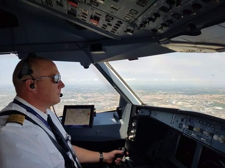 Steve Zago flies the Airbus A330-200 into Venice, Italy. Steve Zago Photo