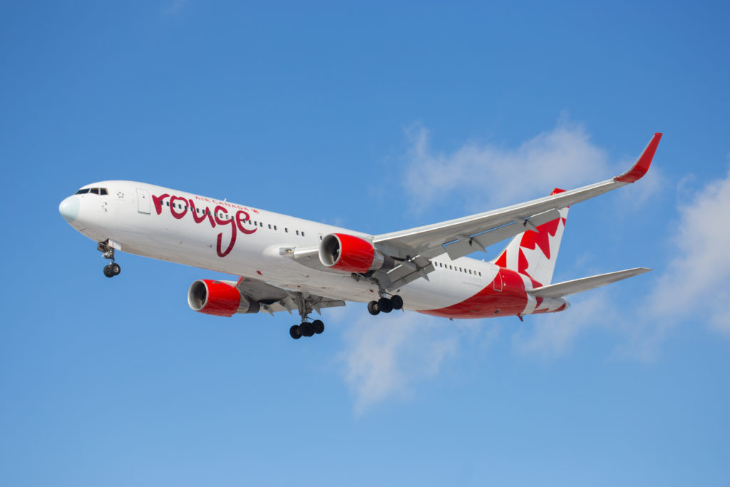 Rouge has allowed Air Canada to compete with ultra-low-cost carriers. The airline focuses on sun markets in the winter and transatlantic routes in the summer. Galen Burrows Photo
