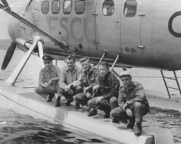 On July 14, 1958, four days after the discovery of the wreck of Delta 673, the RCAF sent a ground party to investigate; they flew from RCAF Station Greenwood, N.S., in a de Havilland Canada DHC-3 Otter from No. 103 Rescue Unit. Pat Donaghy Photo