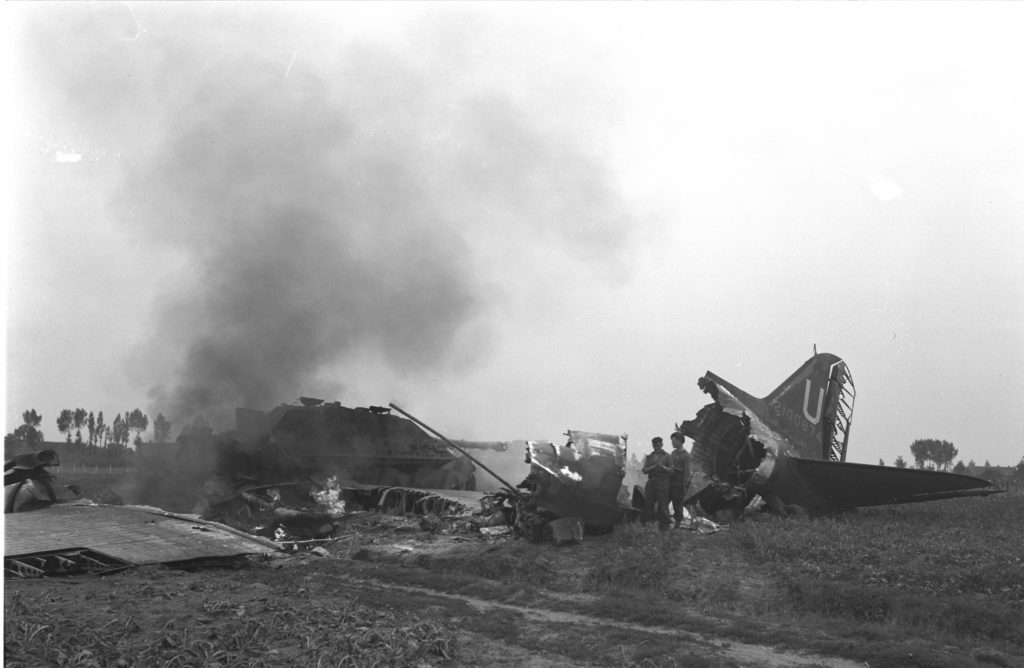 The vast majority of RCAF personnel -- approximately 43 airmen -- were killed during the massive Market airlift. RCAF Photo