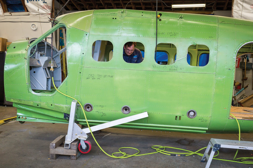 "AeroTech Industries' ""Otter Revitalization Program"" is intended to ""zero time"" the airframe. The process requires the disassembly of the airframe, documentation of its conformance with the original type design, and installation of new metal where mandated. Heath Moffatt Photo"