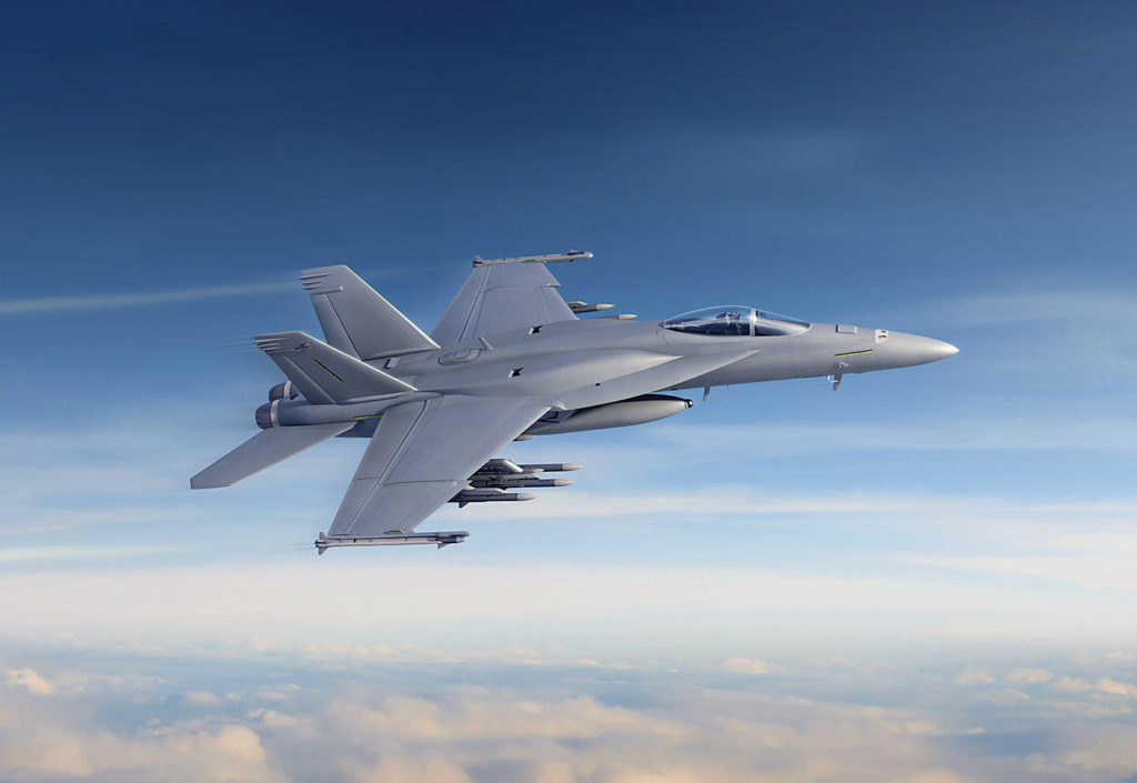 All remaining competitors can lay claim to being Arctic platforms. Canada has already proven the F/A-18's credentials in the high North, the U.S. will base two combat F-35 squadrons in Alaska, and Sweden has developed the Gripen with Arctic operations in mind. Boeing's Super Hornet Block III concept that is expected to be offered to Canada, is shown here. Aaron Foster Image