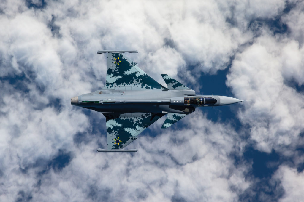 Saab's approach with the Gripen E bid in Canada will likely follow its previously successful formula of maximizing national economic benefits with an economical product. Linus Svensson Photo