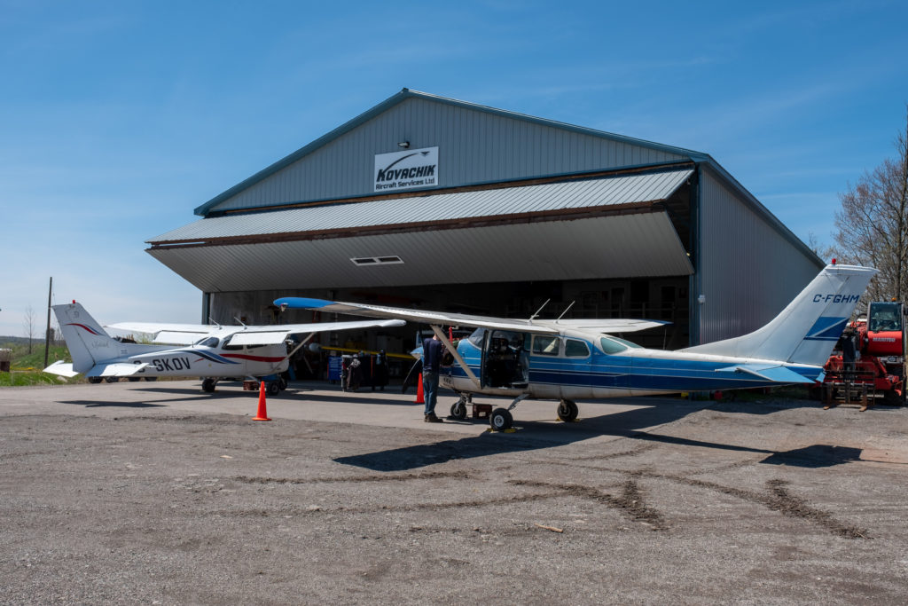 Today, Kovachik Aircraft Services is a busy AMO, operating from 40,000 square feet of total hangar space at CZBA, which includes two maintenance buildings plus a hangar for the Spectrum Airways aircraft it maintains. Dawson Hagens Photo