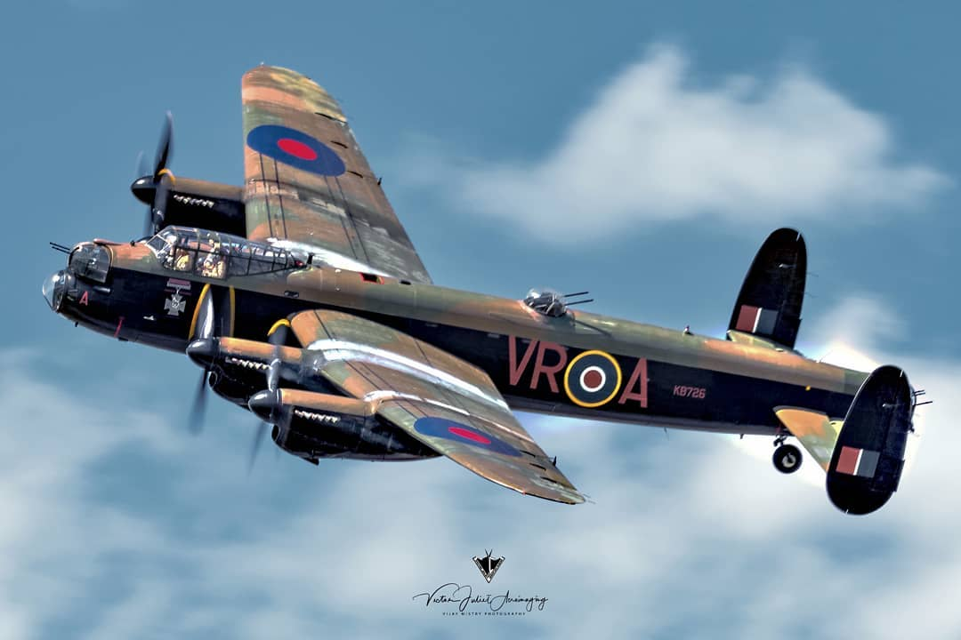 The Canadian Warplane Heritage Museum's Avro Lancaster, one of only two airworthy Lancasters left. Photo submitted by Vijay Mistry (Instagram user @victor_juliet_aeroimaging) using #skiesmag.