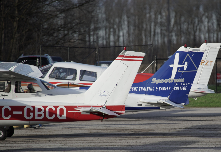 Today, Spectrum employs 16 flight instructors and operates a fleet of 13 aircraft, including three Cessna 152s, five Cessna 172s, four Piper PA-28 Warriors, and a twin-engine Piper PA-34 Seneca. Last year, the combined fleet flew a total of 14,000 hours. Dawson Hagens Photo