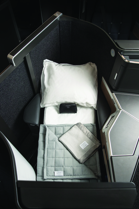 An overhead view of British Airway's new club suite, which will be outfitted in the airline's new A350s. British Airways Photo