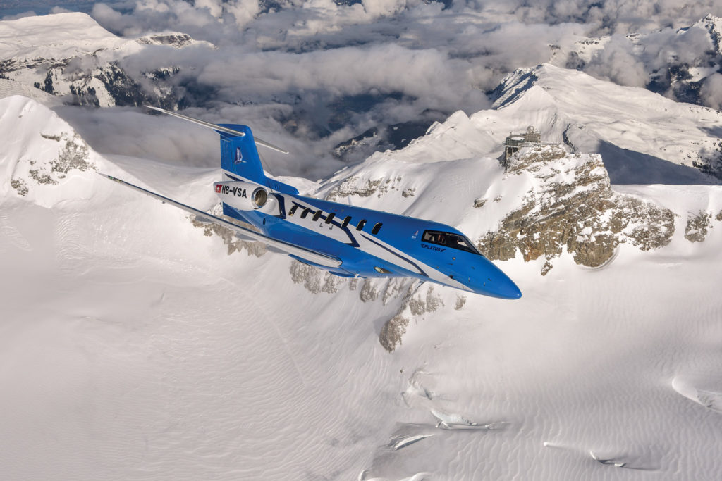 The Pilatus PC-24 was introduced at the European Business Aviation Convention & Exhibition (EBACE) in Geneva, Switzerland, on May 21, 2013. The prototype rolled out from the plant in Stans on Aug. 1, 2014. Pilatus Photo