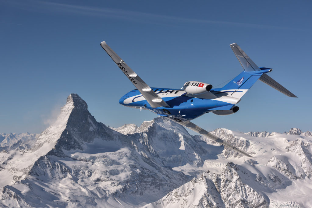 """The PC-24 received its Canadian type certificate on June 27, 2019, and the first Canadian-registered aircraft was deliverd to a corporate operator just days later. Levaero Aviation, Pilatus' exclusive Canadian distributor, is seeing """"significant interest"""" in the new jet. Pilatus Photo"""