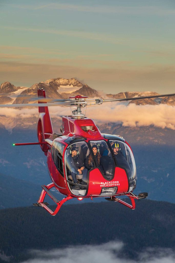 Blackcomb has made a conscious effort to build up its aerial tourism work, offering a variety of packages to suit visitors from around the world. Heath Moffatt Photo