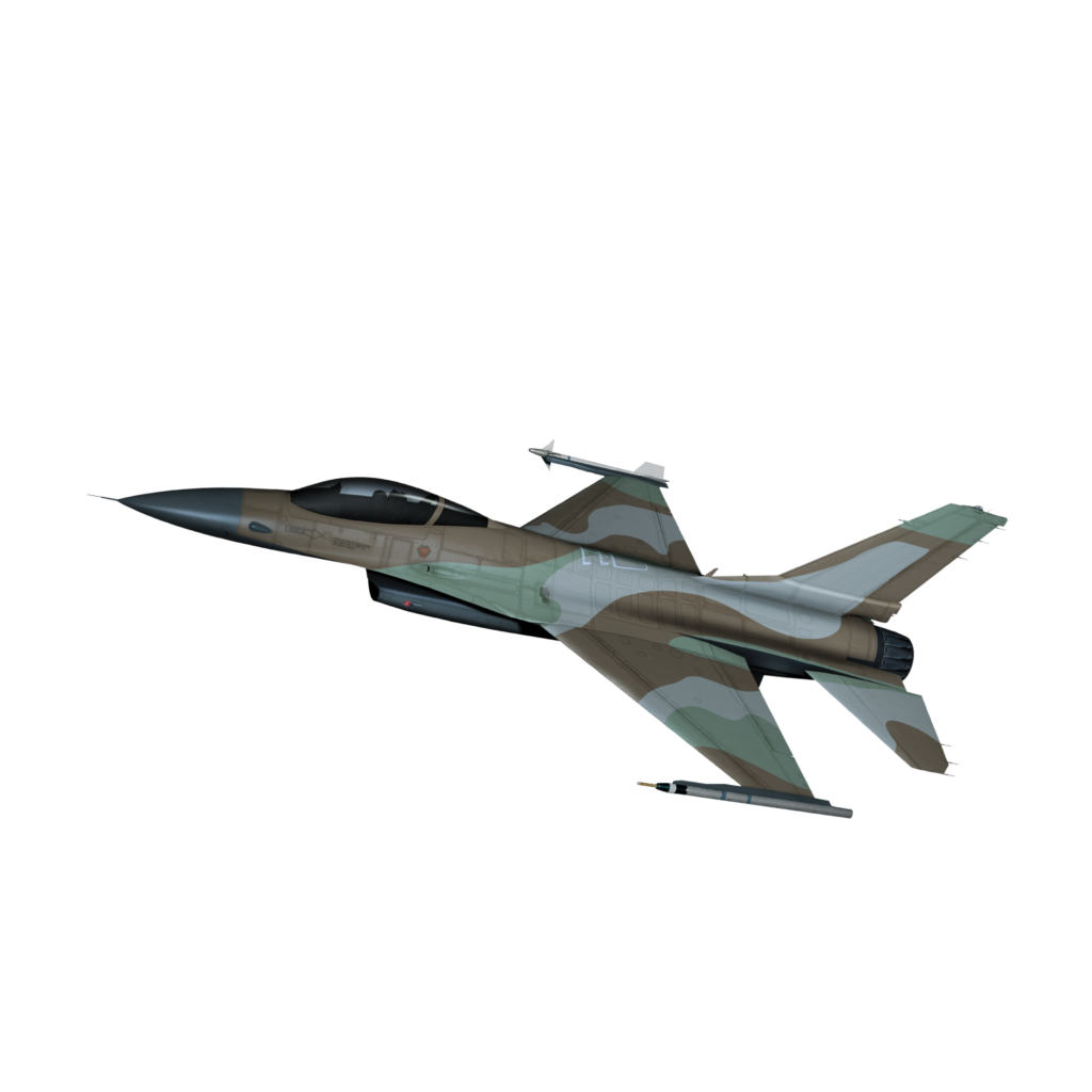 A computer rendering of Top Aces' future fleet of F-16s in a desert camo scheme. Top Aces Image