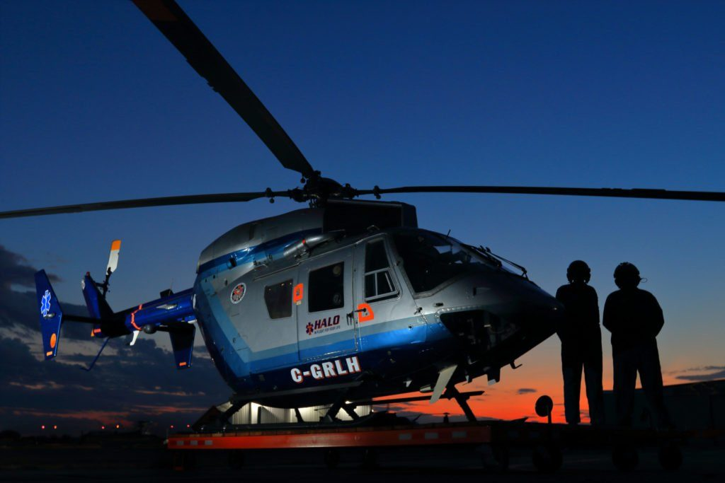 HALO started operations with one single-engine Bell 206 in 2007, and brought a new twin-engine Airbus BK117 into service in mid-2018, which has allowed the program to greatly increase its range in southern Alberta. Mark Mennie/HALO Photo