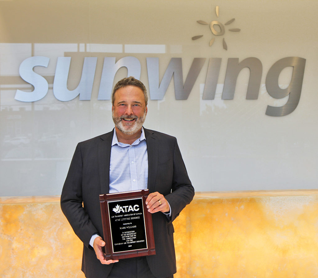 Williams' career in the aviation industry has spanned over 30 years and, after joining Sunwing in 2004, he was instrumental in the launch of the airline a year later. Sunwing Photo