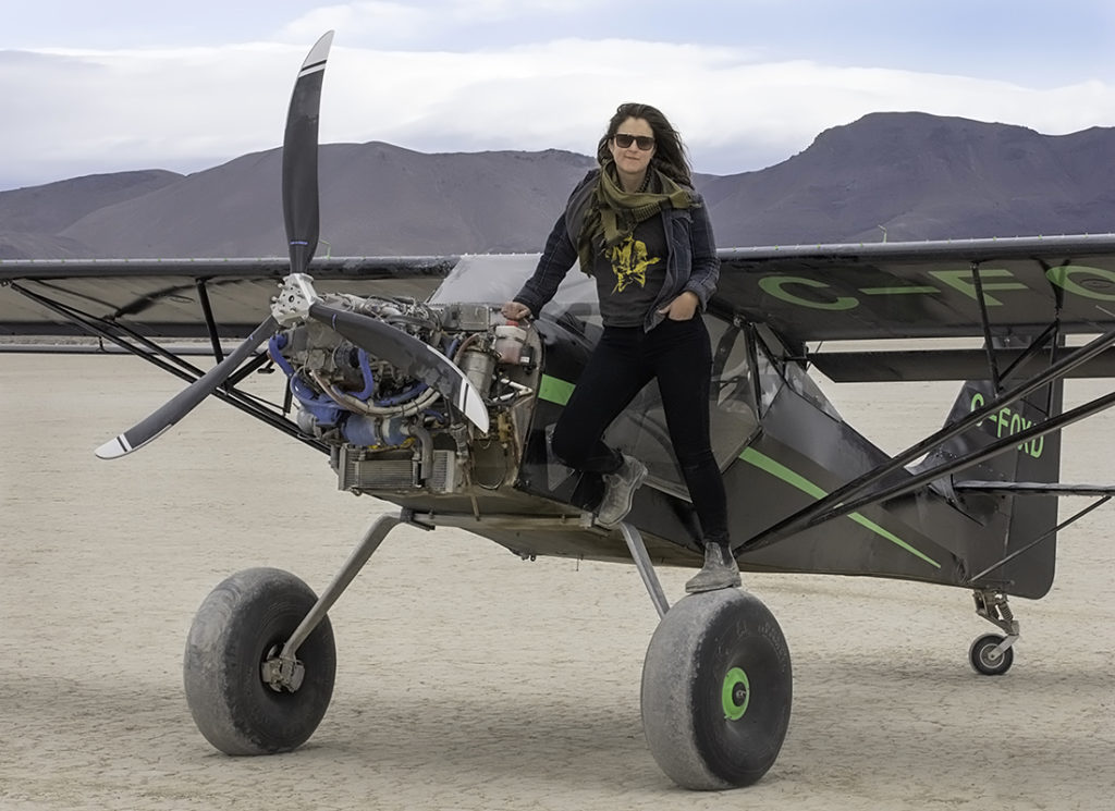 Esser and her husband Josh started building their Kitfox Model 7 Super Sport six years ago, but needed time-in-type for insurances purposes as neither had flown taildraggers before. Mike DiCarlo Photo
