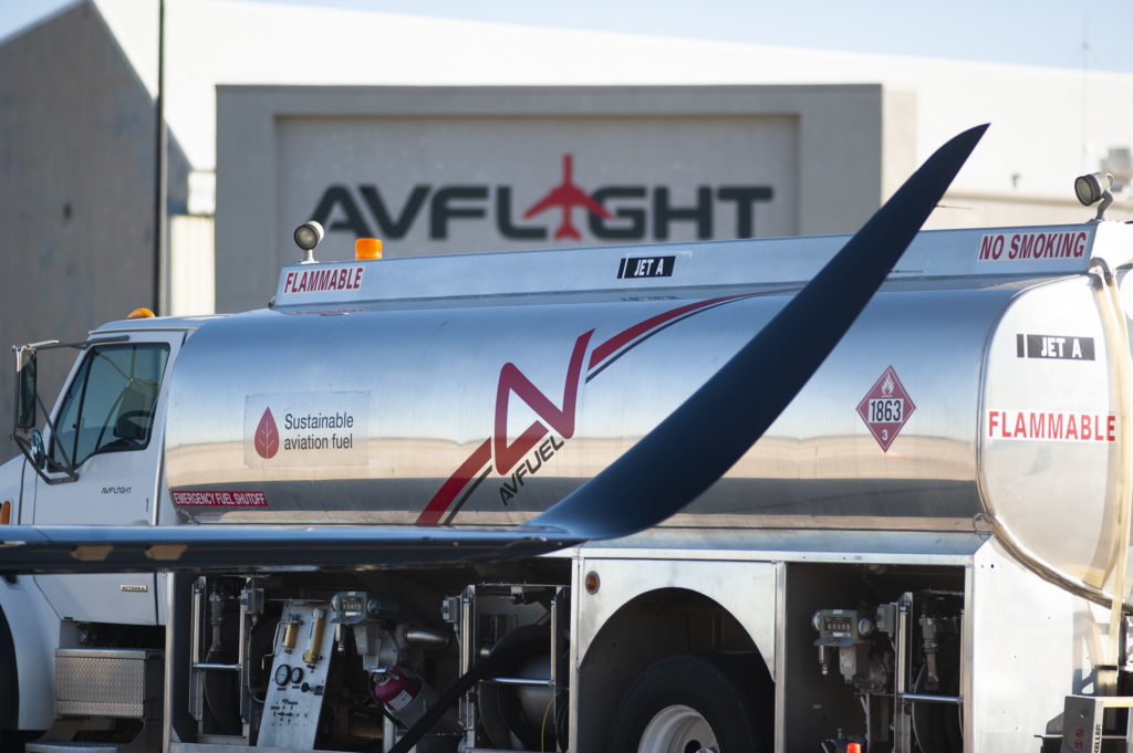Sustainable aviation fuel is only available from U.S. suppliers right now, including Avfuel. Avfuel Photo