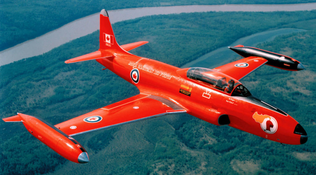 The RCAF Red Knight in all its glory. The Red Knight team will receive the Belt of Orion, the Canada's Aviation Hall of Fame' award of excellence, in 2020. Diecast Aircraft Forum Photo