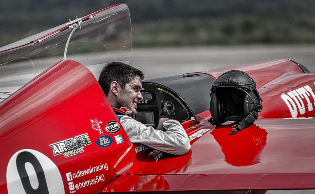 Scott Holmes, pictured here, and Team Outlaw is the only Canadian team to enter the Air Race E series. Air Race E Photo