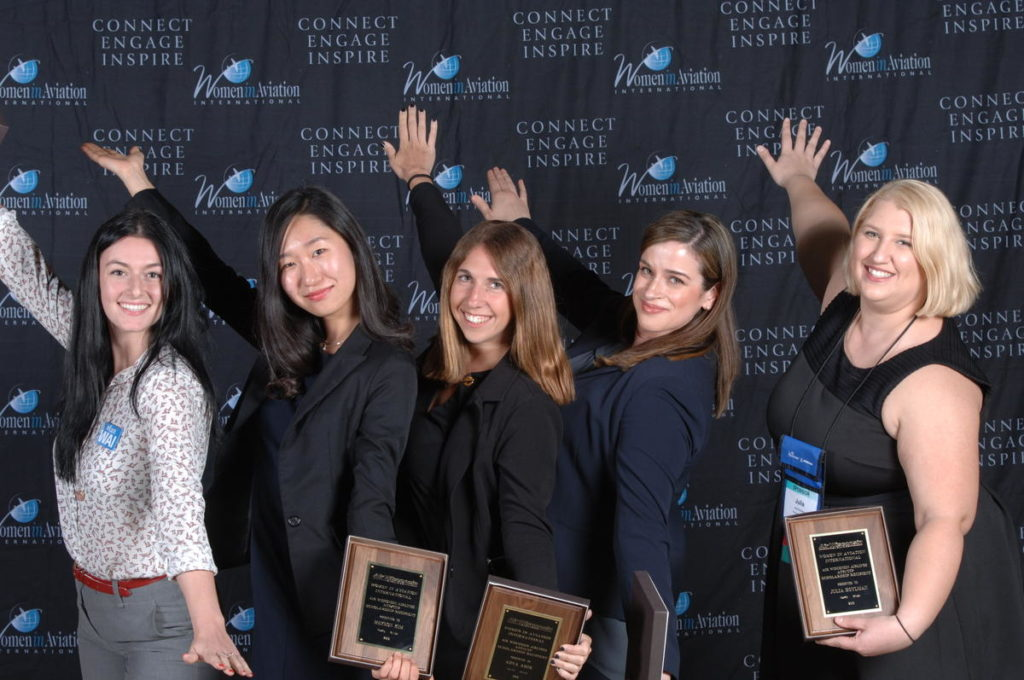 Left to Right: Erin Johnston, Meyeon Cecilia Kim, Adva Amir, Christine O'Connell, and Julia Hoylman are five women who have been awarded US$10,000 in scholarships from WAI. WAI Photo