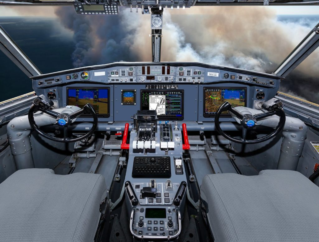 The proposed layout of the Collins Aerospace Pro Line Fusion integrated avionics suite to be featured in the Viking Avionics Upgrade Program (AUP). Viking Image