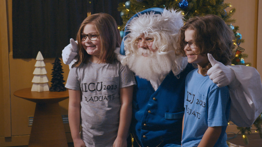 Participants who chose to donate their gifts were invited to a special ceremony at Ronaqld McDonald House Charities South Central Ontario in Hamilton, Ont. WestJet Photo