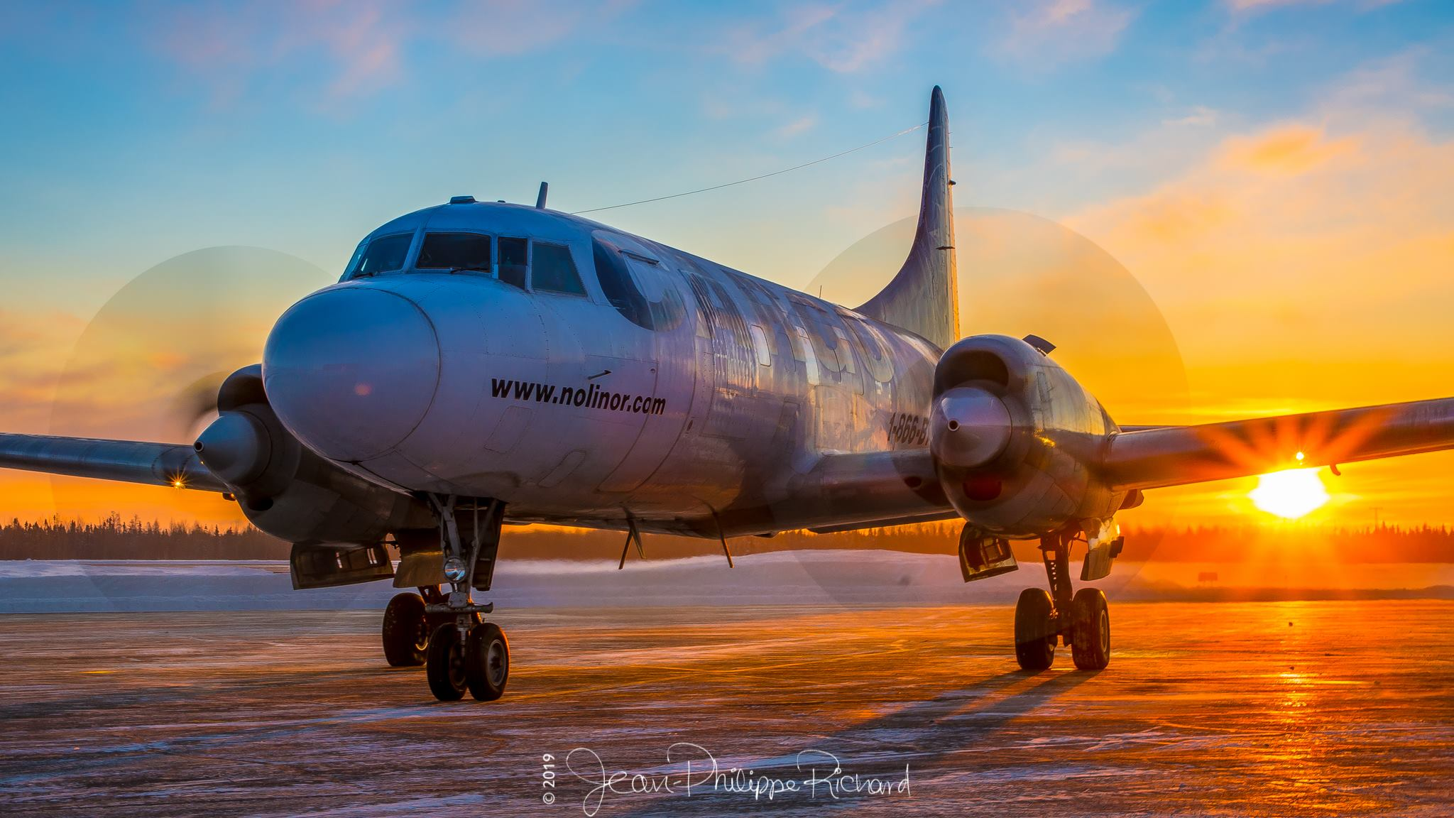 Congratulations goes to Jean-Philippe Richard (Instagram user @jprichard89), his shot of this Nolinor Aviation Convair 580 during golden hour was our most-liked weekly photo contest winner of 2019!