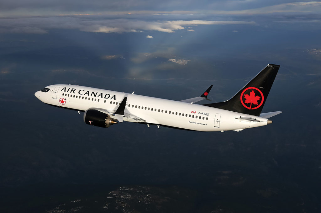 The 737 Max 8 has been removed from the Air Canada winter schedule through at least Fed. 14, 2020. Brian Losito/Air Canada Photo