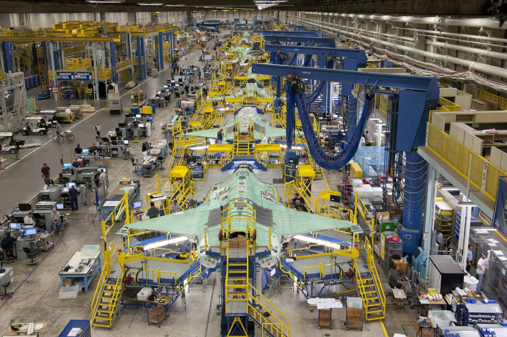 Costs of the aircraft have been lowered in assembly through the use of an automated production line designed to produce 180 aircraft per year. Lockheed Martin Photo