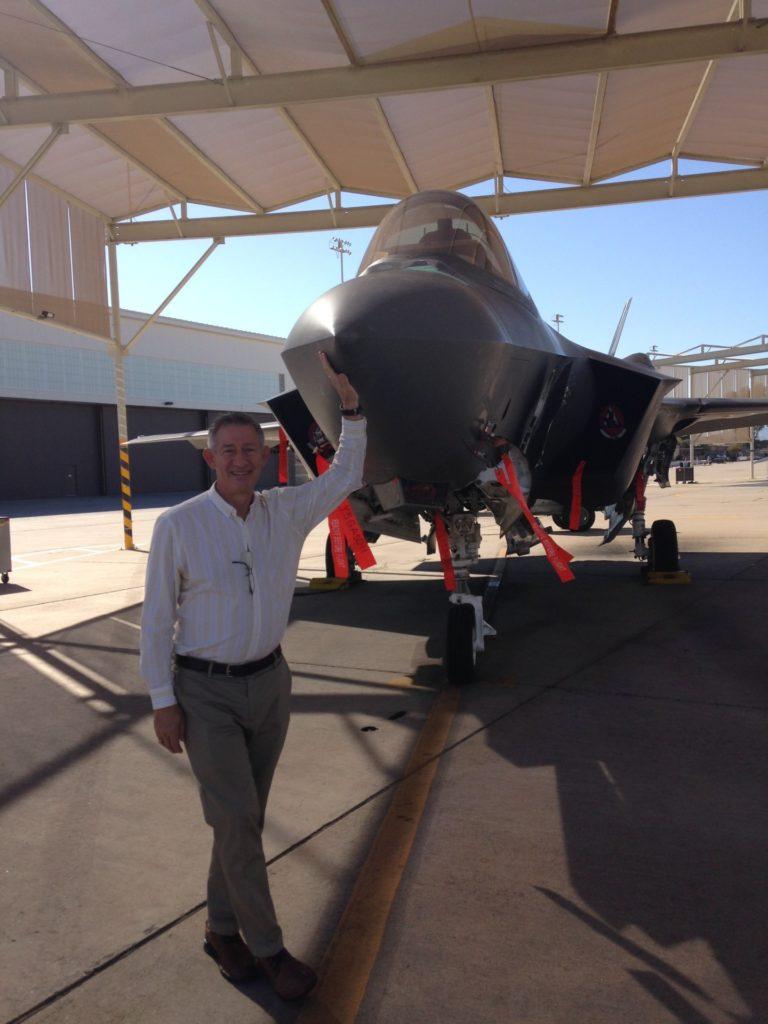 The author, Al Stephenson, seen here with the F-35A Lightning II. Al Stephenson Photo