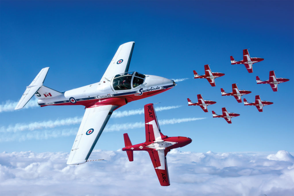 2020 will be the CF Snowbirds' Golden Anniversary year, marking the team's 50th performance season. Mike Reyno Photo
