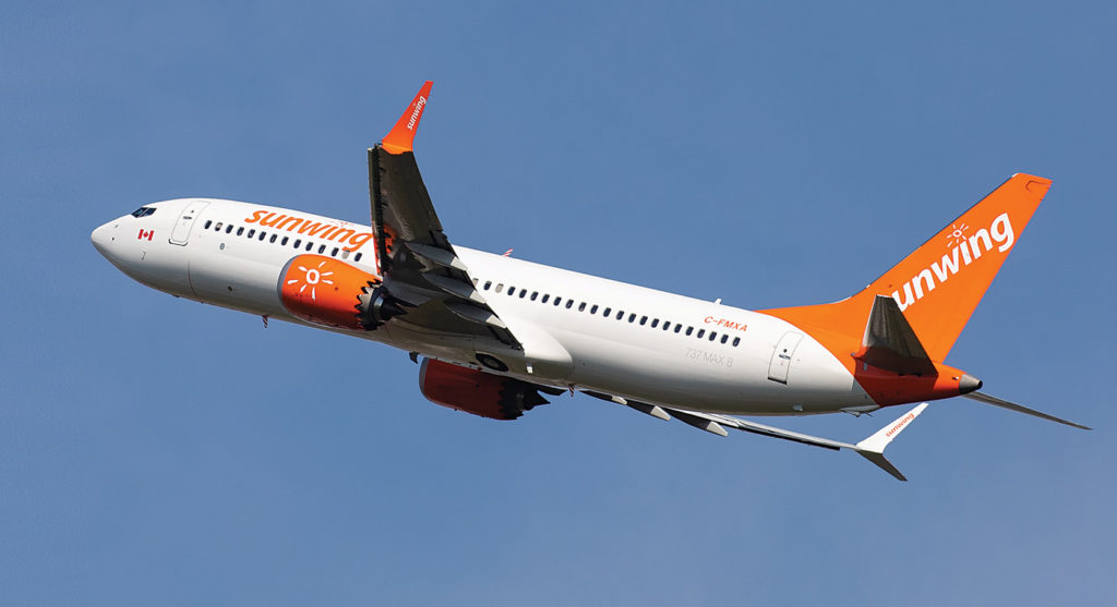 In total, over 3,000 Sunwing flights were affected this past summer. In most instances, all routes were maintained but some frequency was reduced. Patrick Cardinal Photo