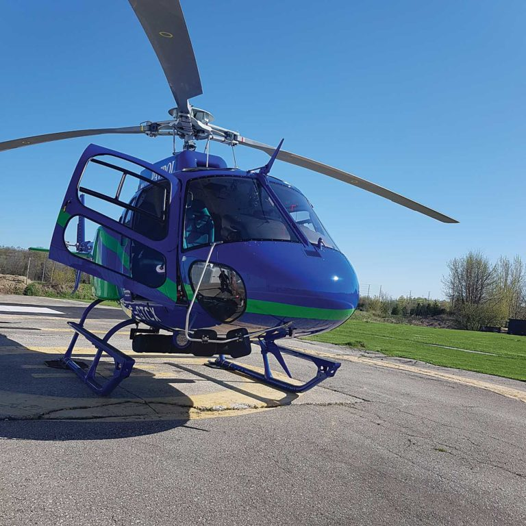 An Airbus AS350 AStar with an ICARUS-produced mount for surveillance equipment. ICARUS Photo